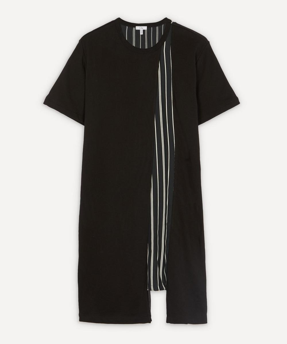CLU - Stripe Panel T-Shirt Dress