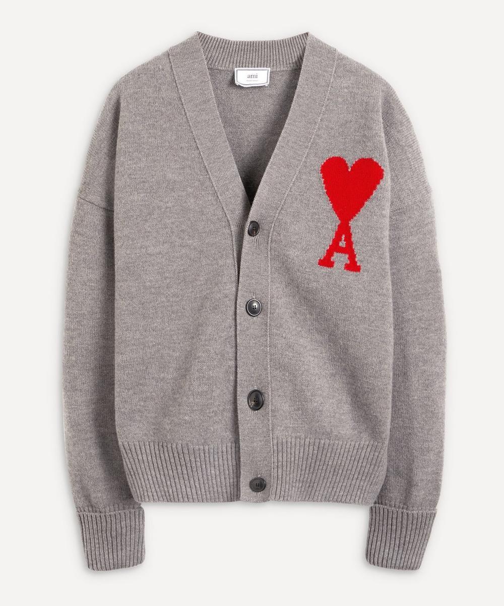 Ami - Ami de Coeur Merino Wool Cardigan