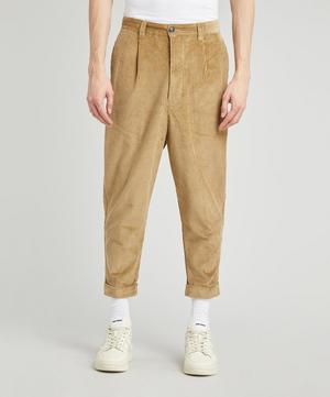 Carrot Fit Corduroy Chino Trousers