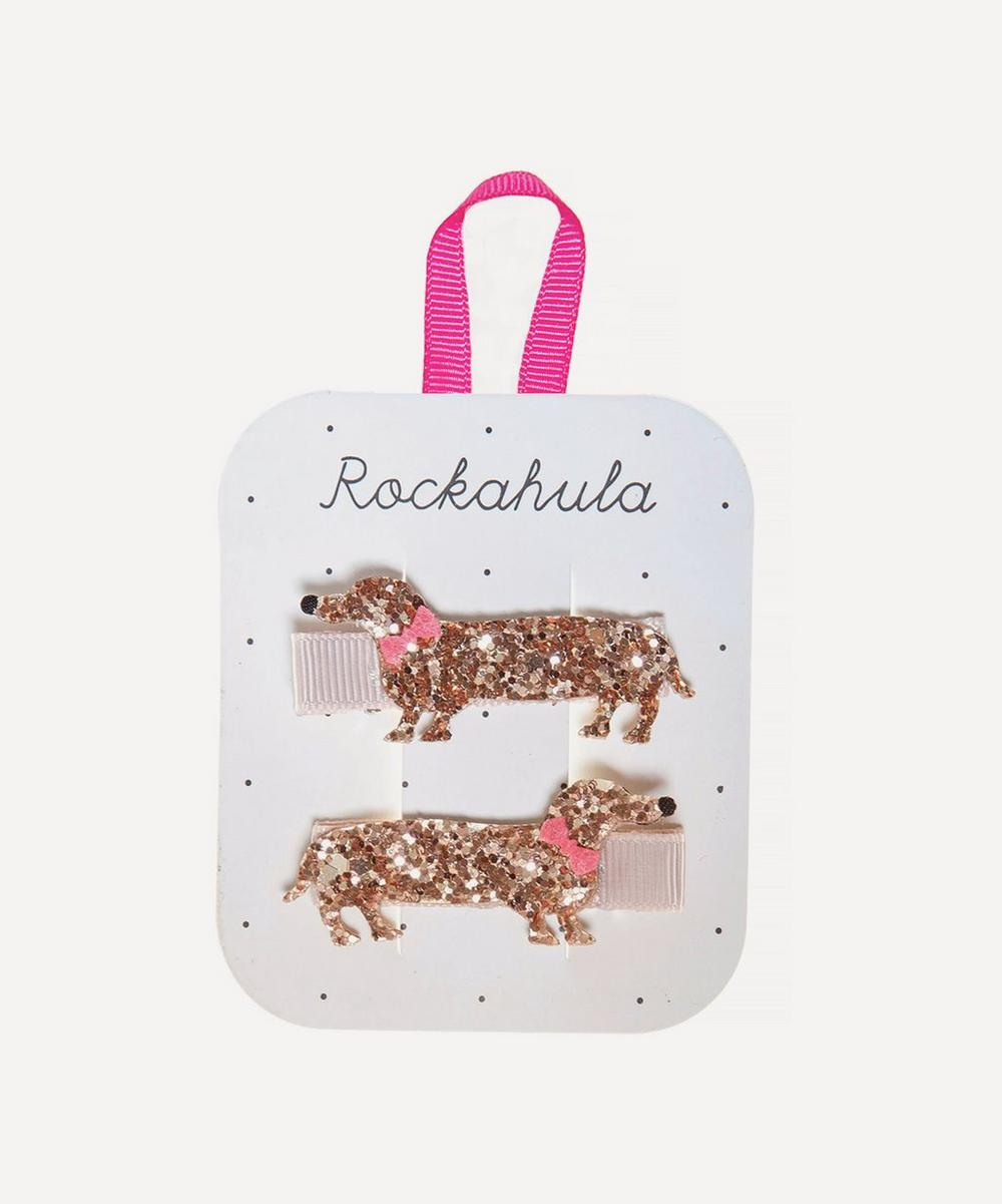 Rockahula - Morris Sausage Dog Glitter Hair Clips