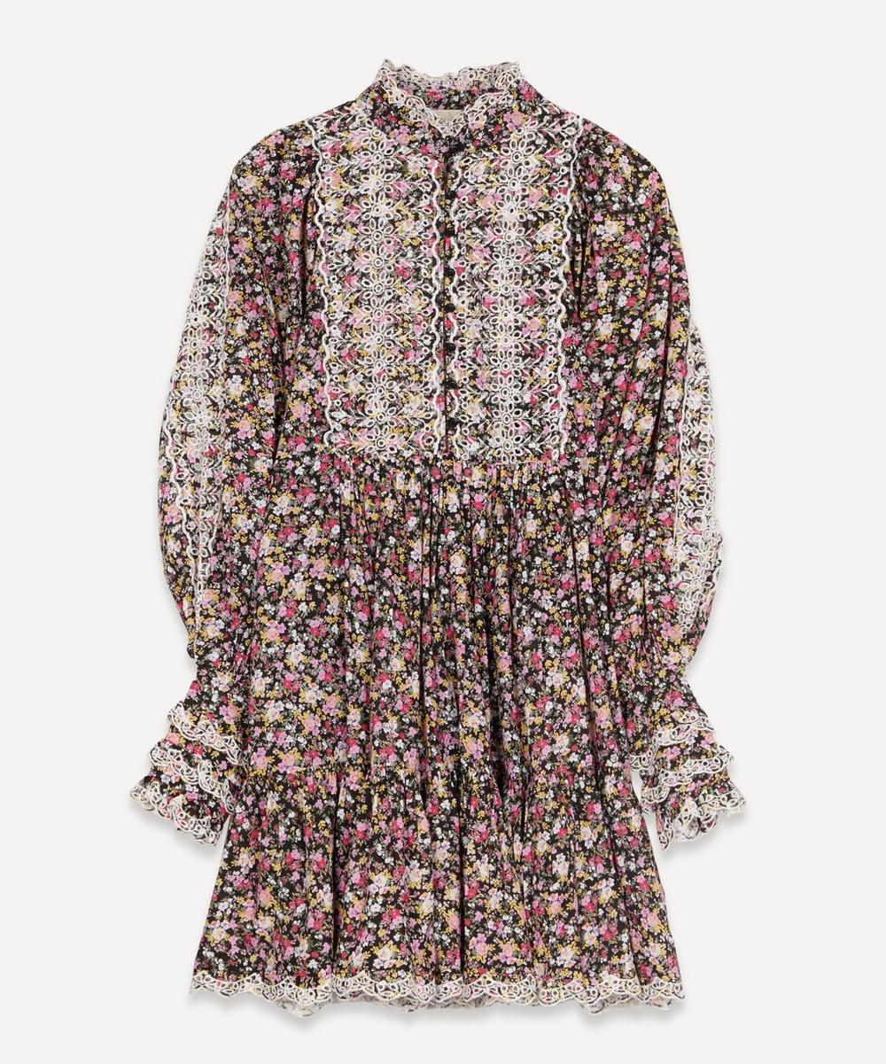 byTiMo - Cotton Slub Flowers Shift Dress