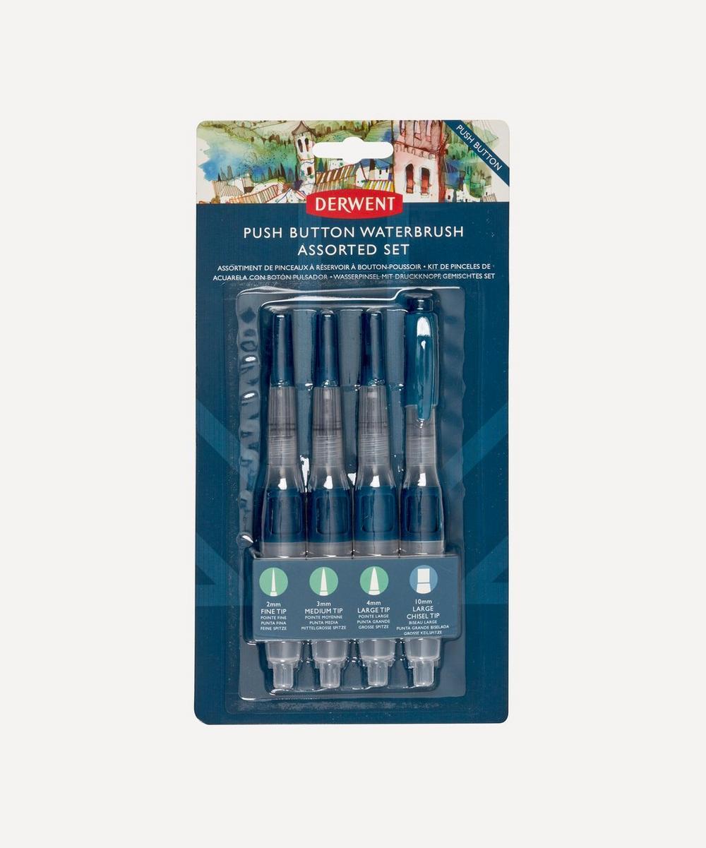 Derwent - Push Button Waterbrush Assorted Set