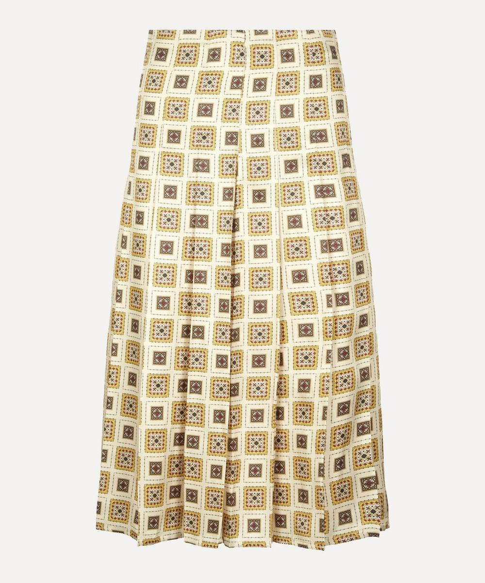 Giuliva Heritage Collection - The Alessandra Printed Silk-Blend Skirt
