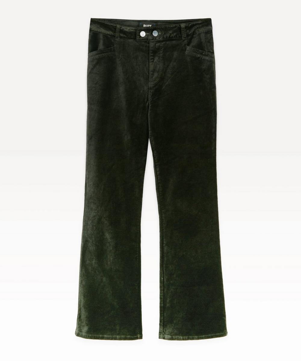 Paige - Claudine High-Rise Velvet Ankle Flare Jeans