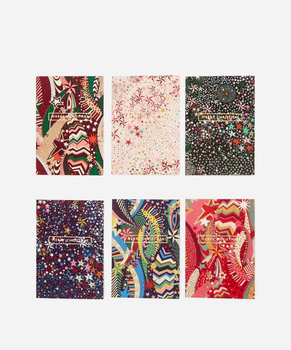 Liberty - Liberty Fabric-Covered Christmas Cards Pack of Six
