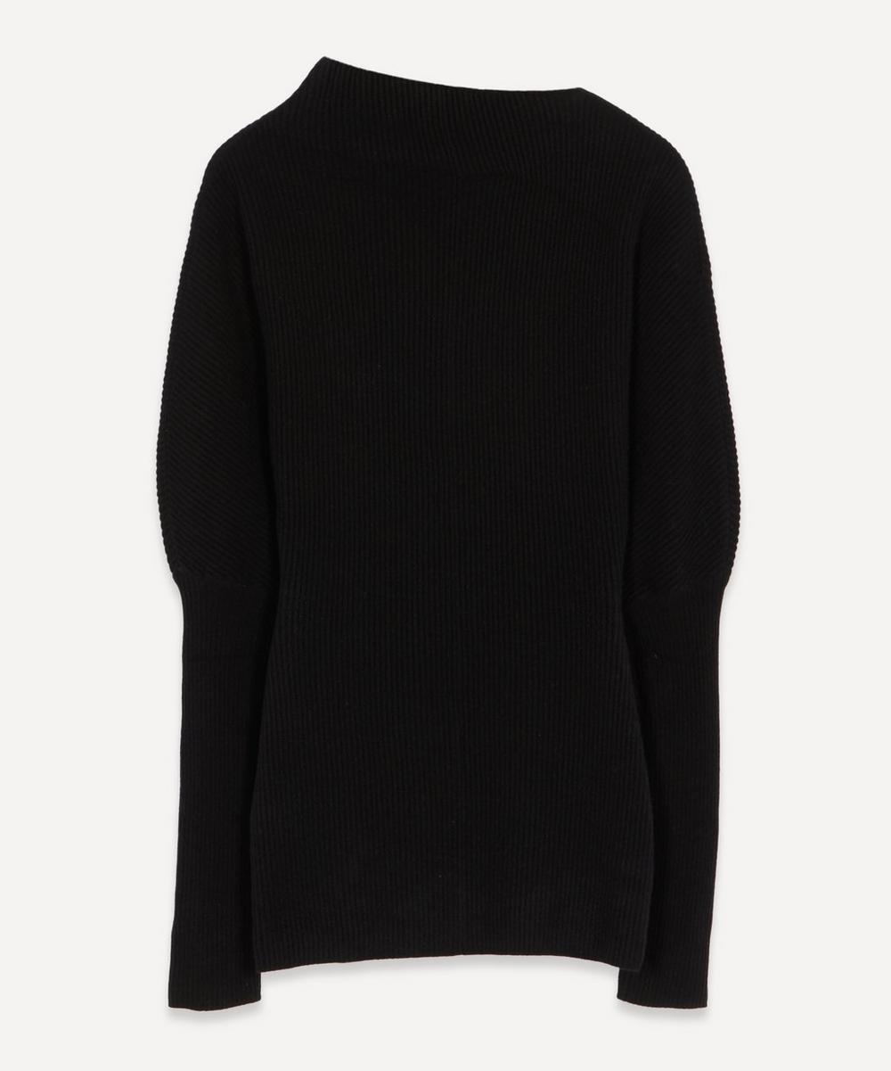 LOW CLASSIC - Asymmetric Collar Knit Jumper