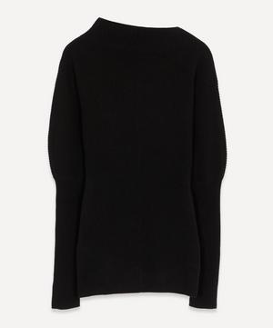 Asymmetric Collar Knit Jumper