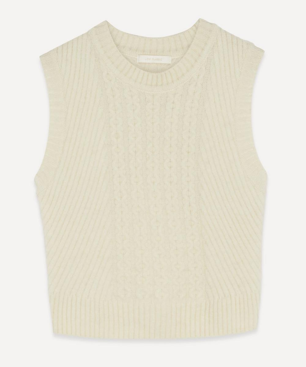 LOW CLASSIC - Cable Knit Vest