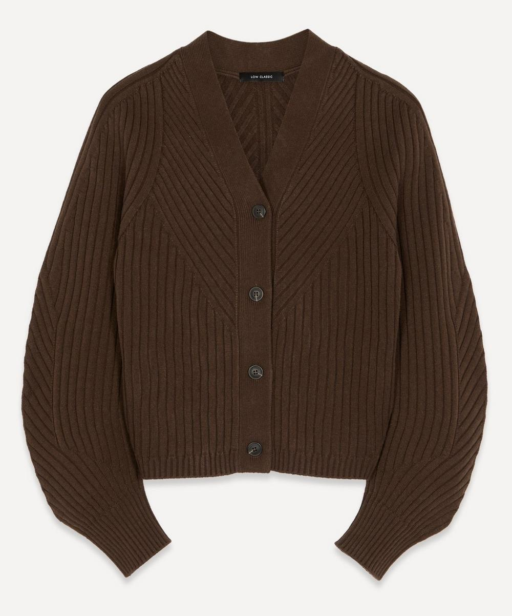LOW CLASSIC - Ribbed Wool Cardigan