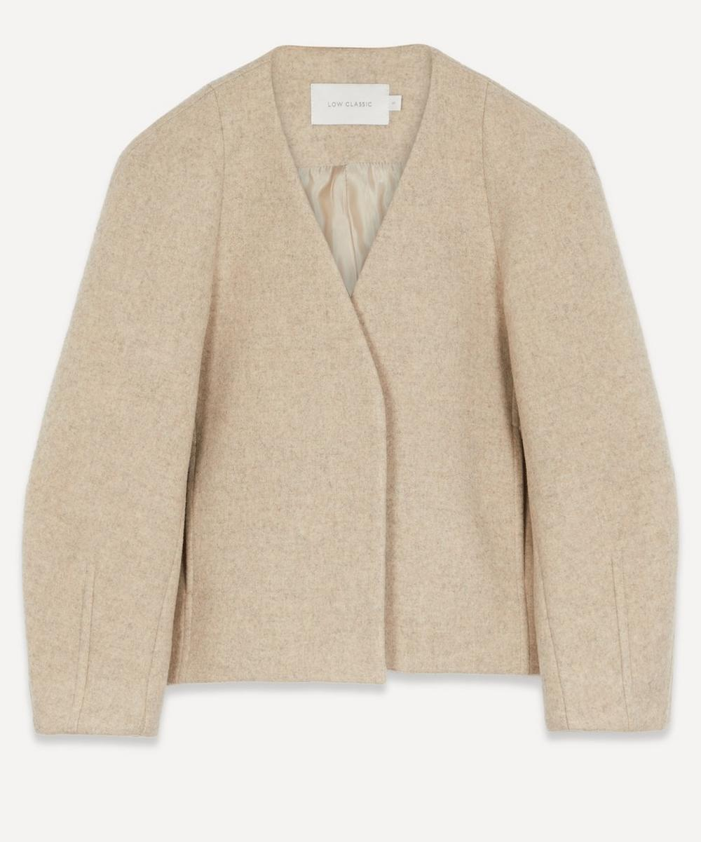 LOW CLASSIC - Collarless Tailored Jacket