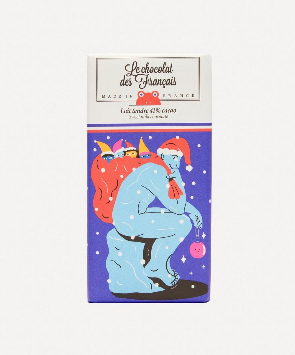 Le Chocolat des Français - Le Penseur Christmas Milk Chocolate Bar 87g