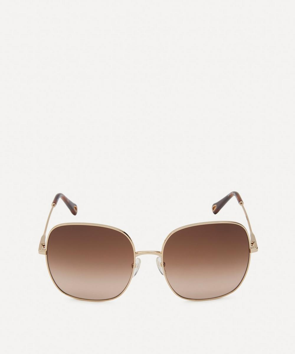 Chloé - Eliz Square Metal Sunglasses