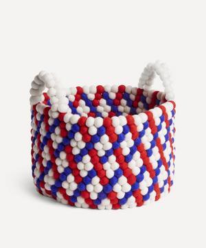 Bead Woven Basket