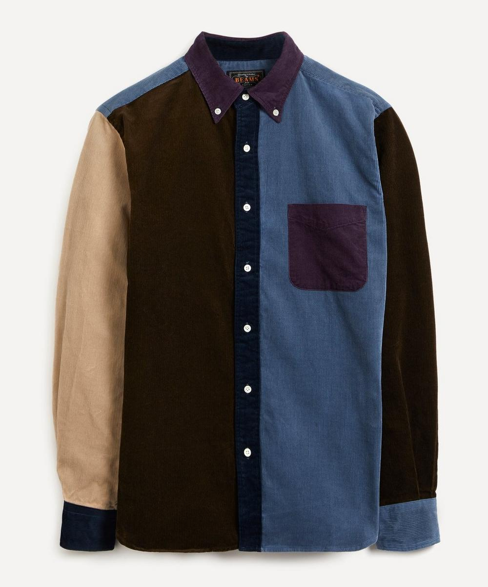 Beams Plus - Button-Down Colour-Block Cord Shirt