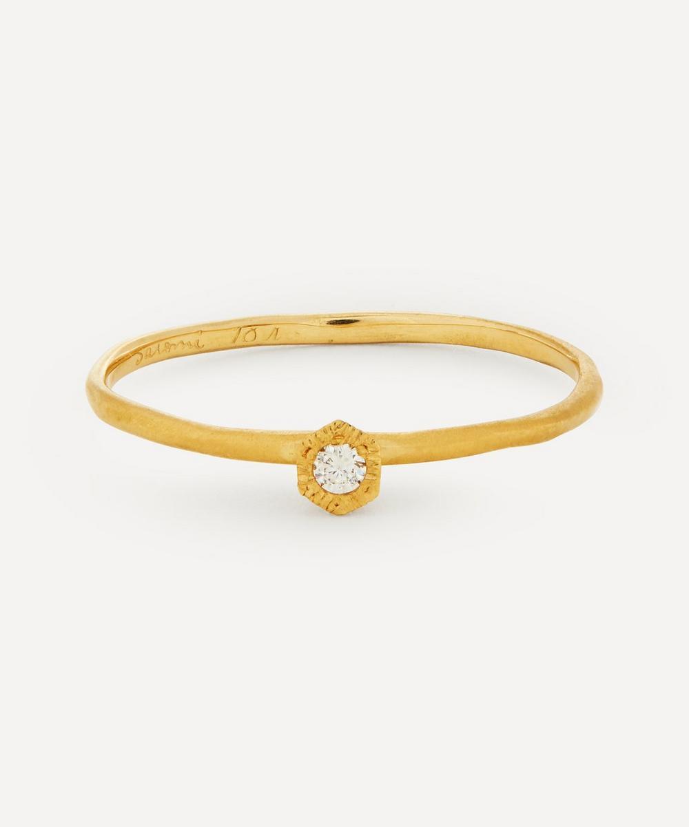 Satomi Kawakita - Gold Baby Diamond Hexagon Ring