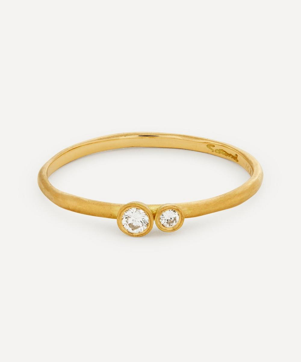 Satomi Kawakita - Gold Married Double Diamond Ring