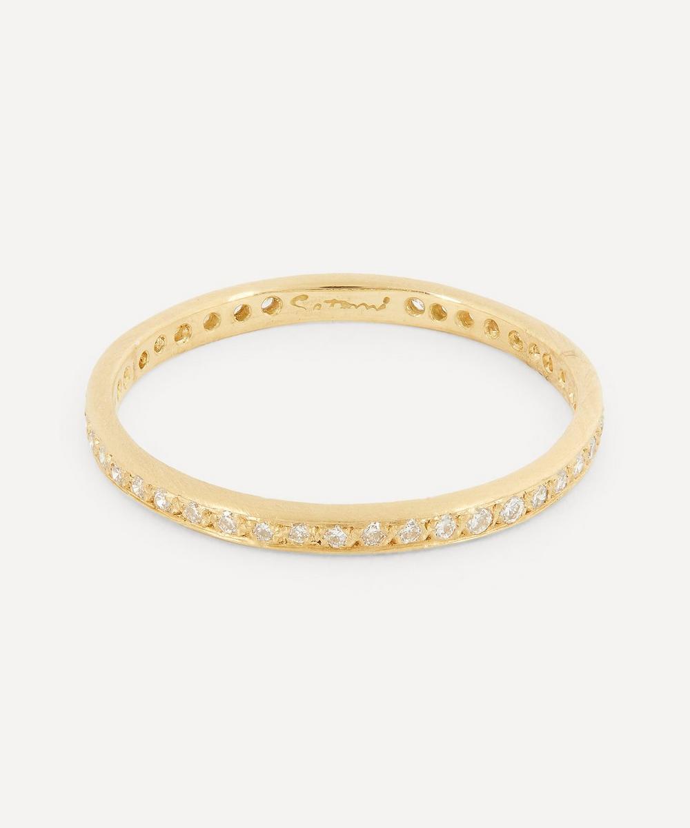 Satomi Kawakita - Gold White Diamond Eternity Ring