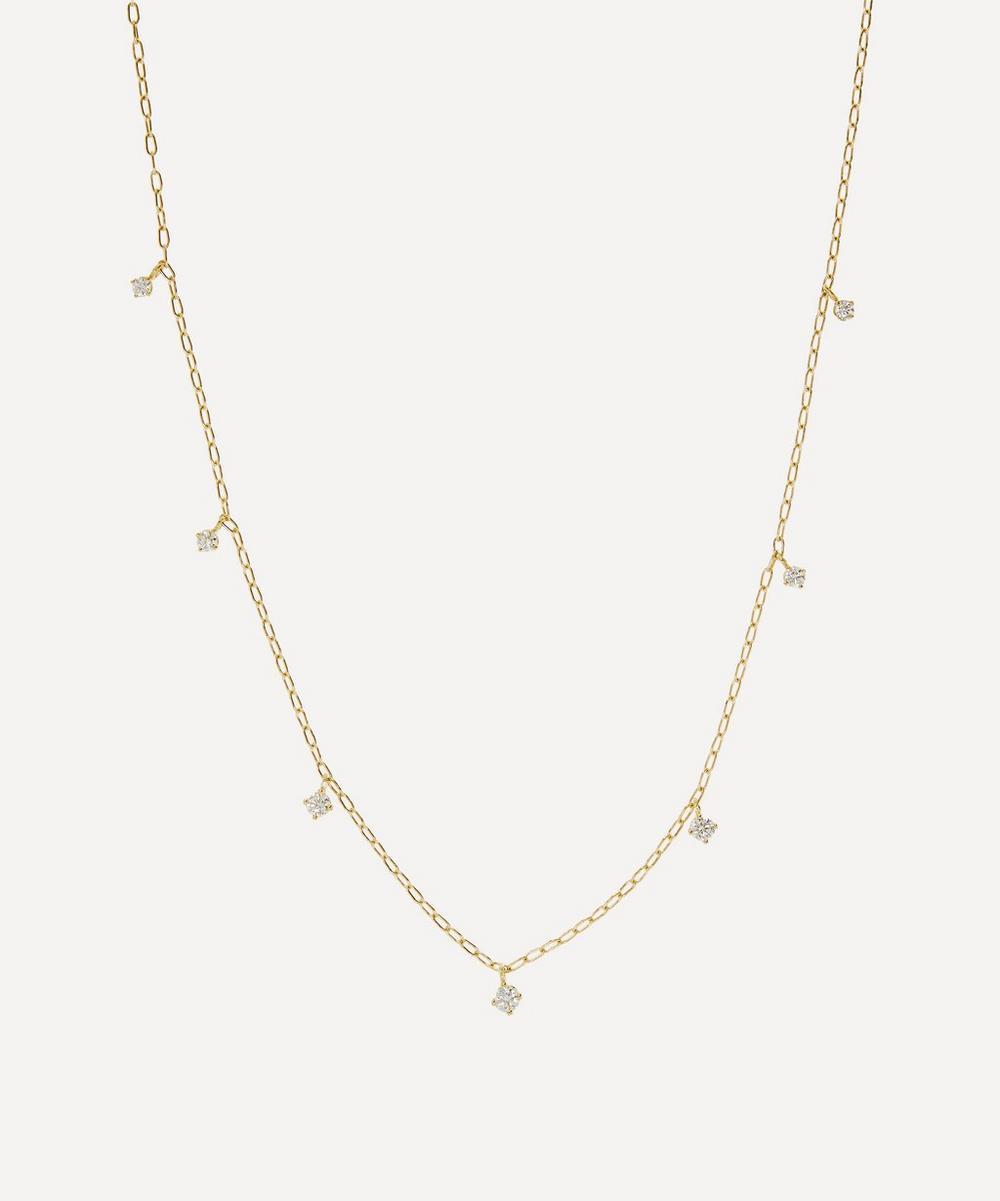 Satomi Kawakita - Gold White Diamond Seven-Stone Celestial Necklace