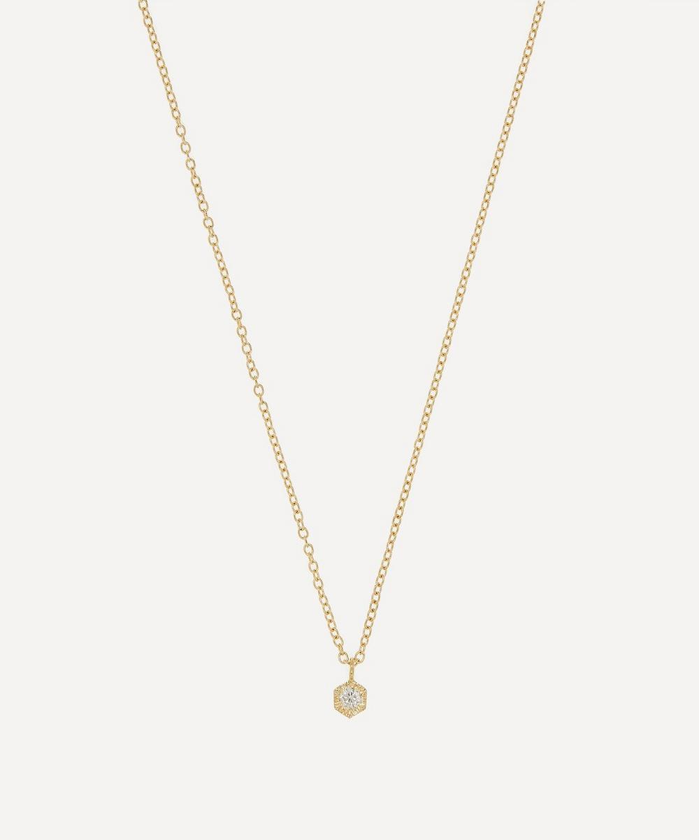 Satomi Kawakita - Gold Baby White Diamond Hexagon Necklace