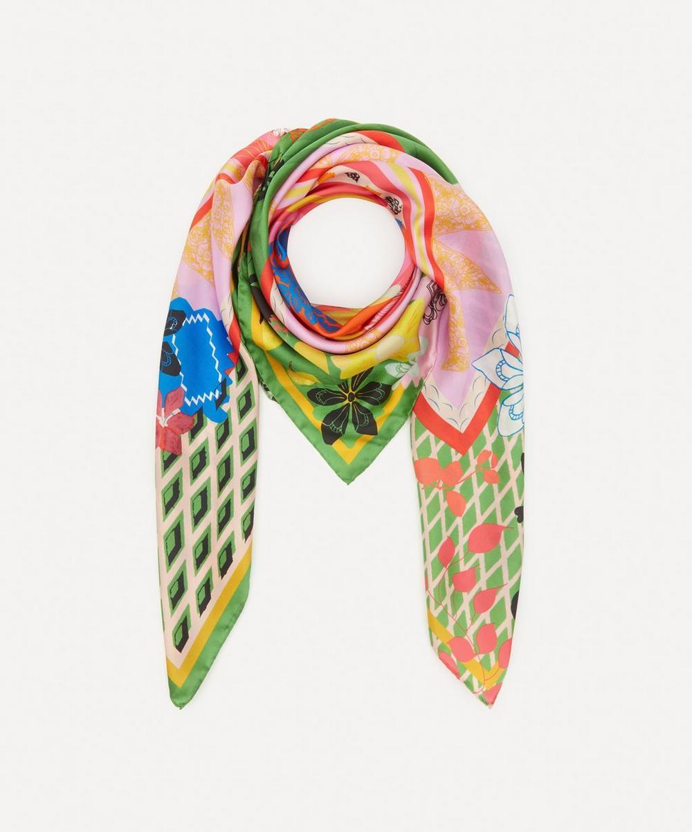 Heti's Colours - Laura Square Silk Scarf