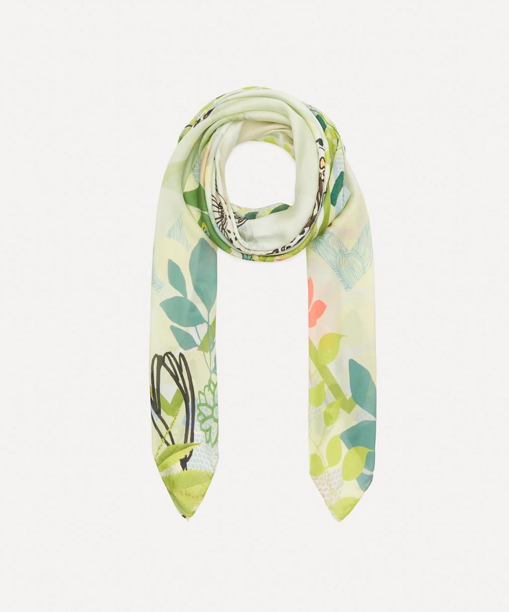 Heti's Colours - Amara Square Silk Sable Scarf