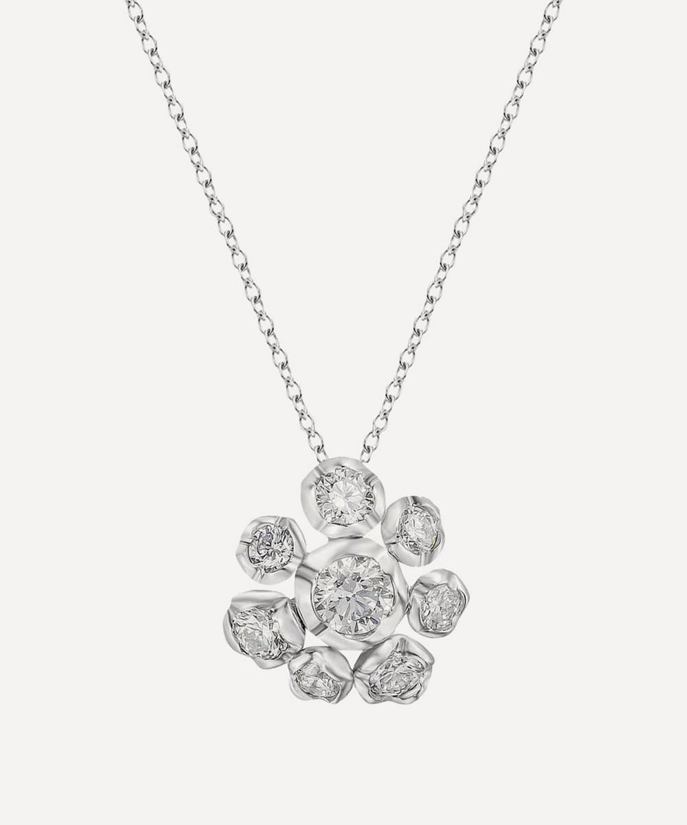 Annoushka - 18ct White Gold Marguerite Diamond Flower Pendant Necklace