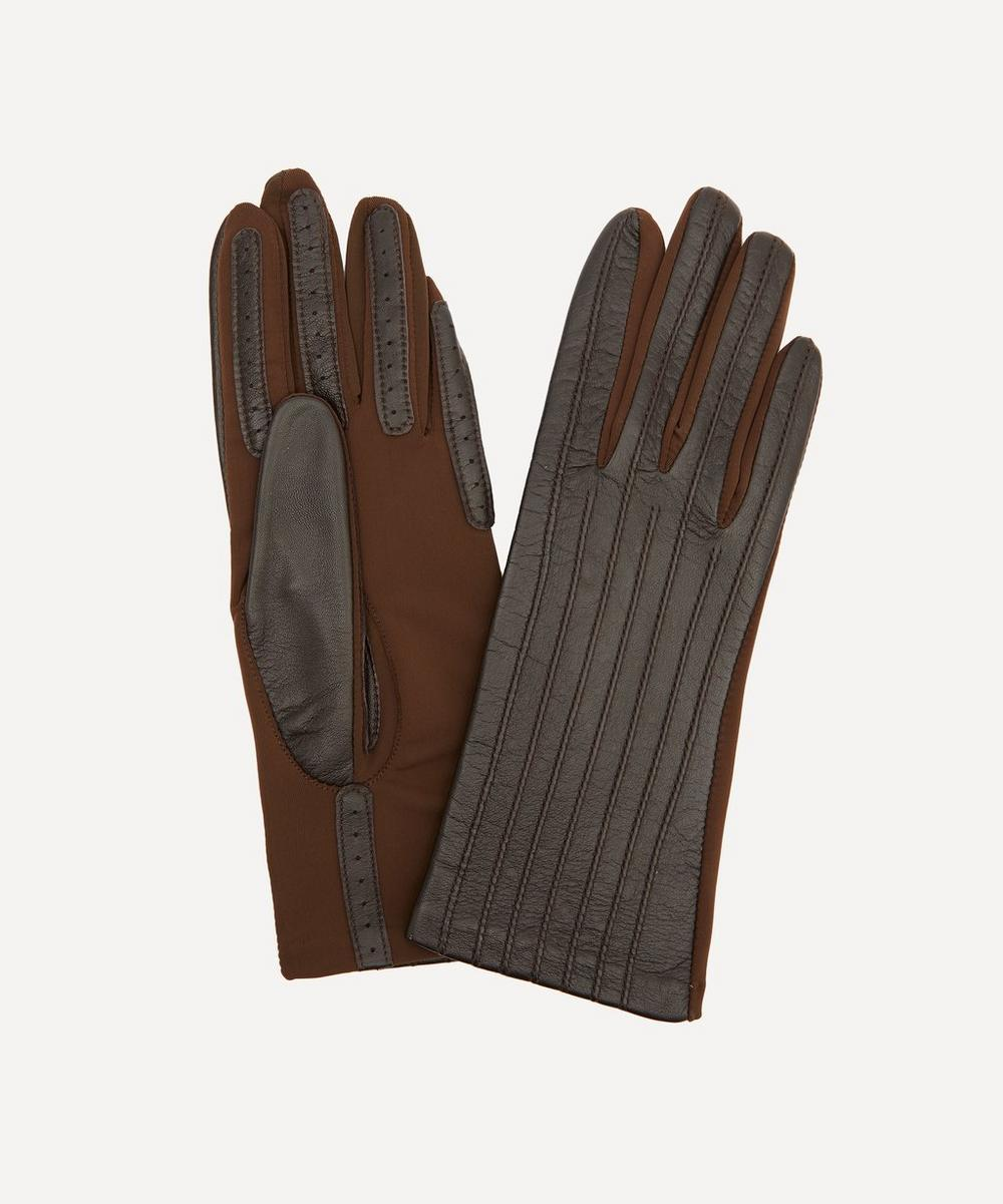 Dents - Olivia Leather and Elastane Gloves