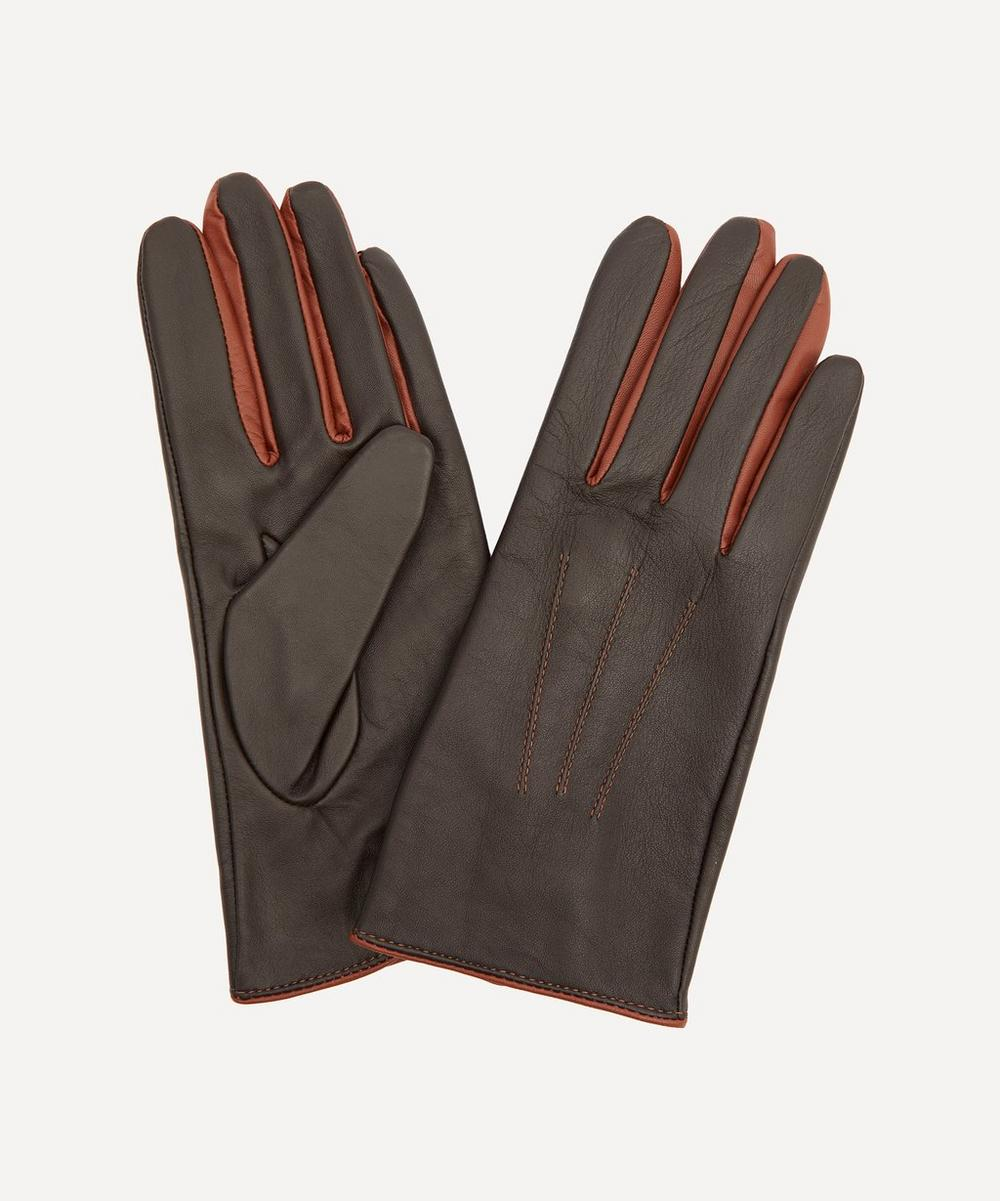 Dents - Joan Contrast Leather Gloves