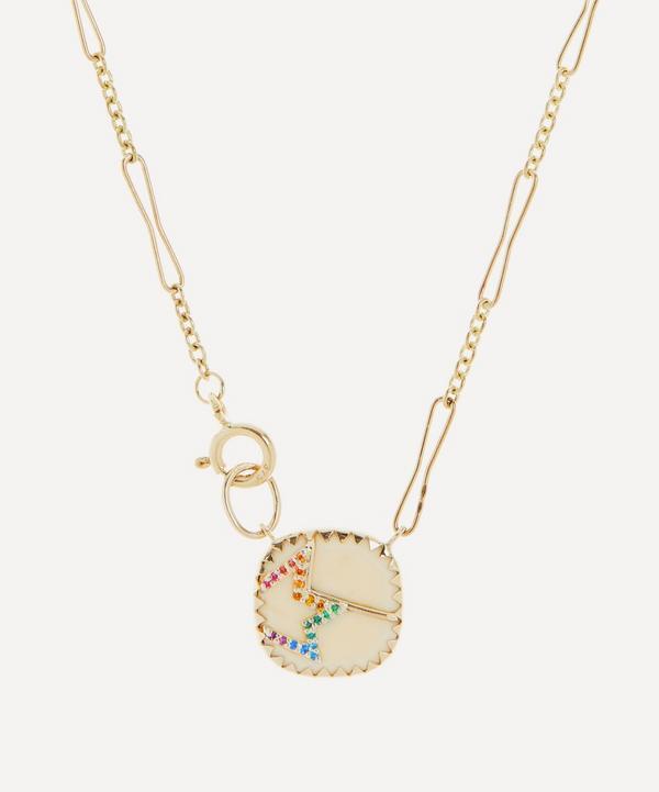 Pascale Monvoisin - Gold Varda N°2 Rainbow Nanogem and Bakelite Pendant Necklace