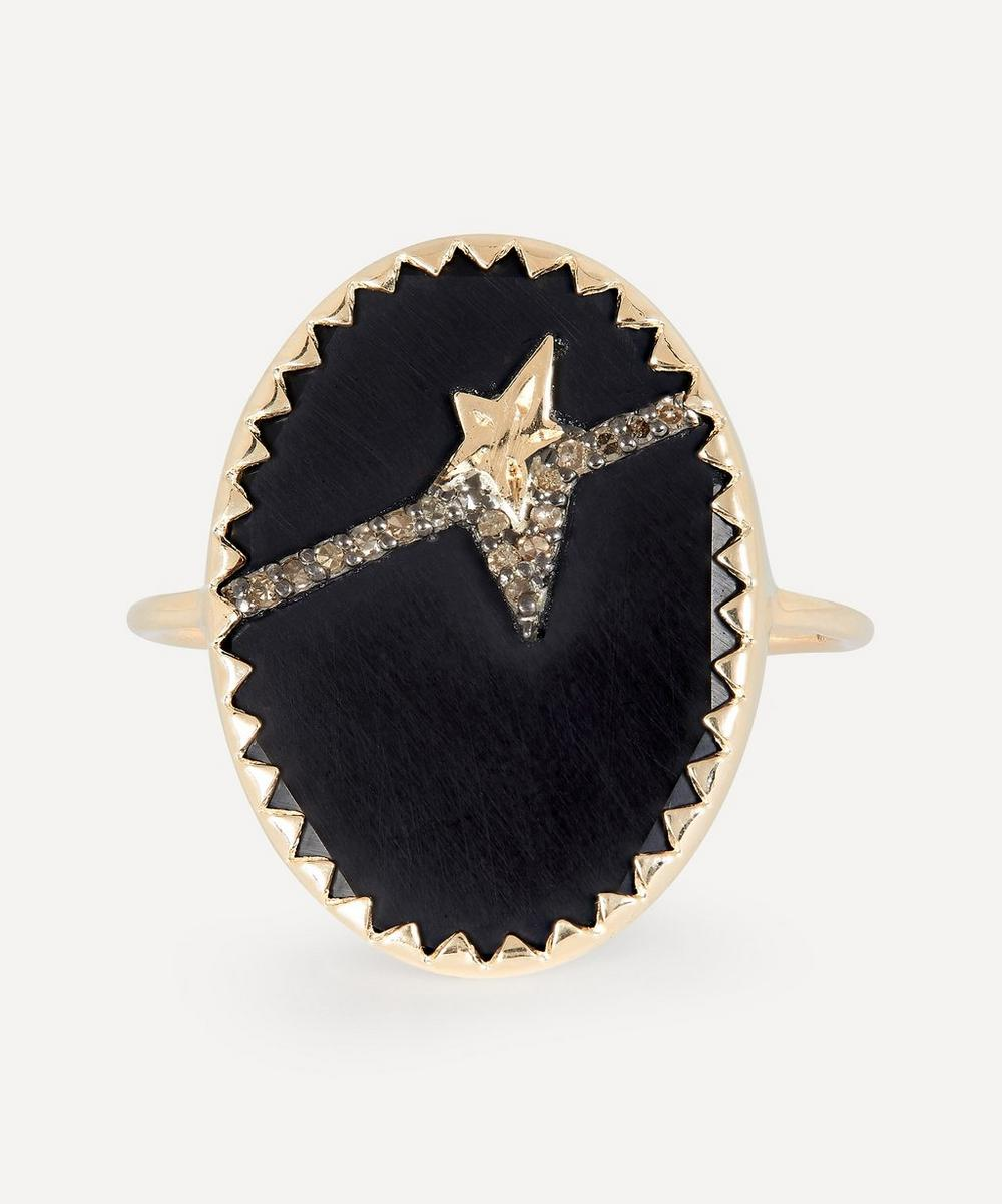 Pascale Monvoisin - Gold Varda N°3 Diamond and Bakelite Ring