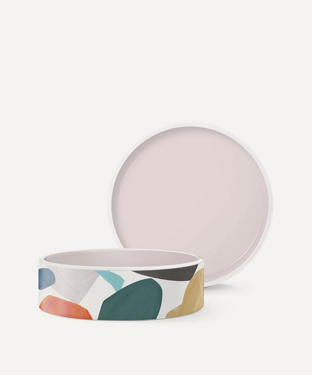 Fringe Studio - Medium Multicoloured Ceramic Dog Bowl