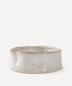 Medium Ribbed Stoneware Dog Bowl