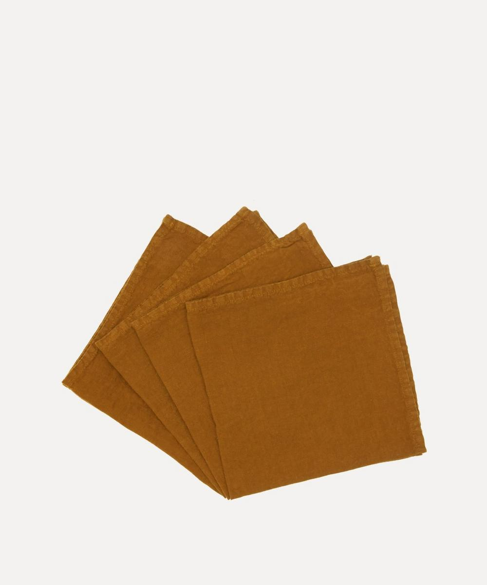 Once Milano - Lightweight Linen Napkins Set of 4