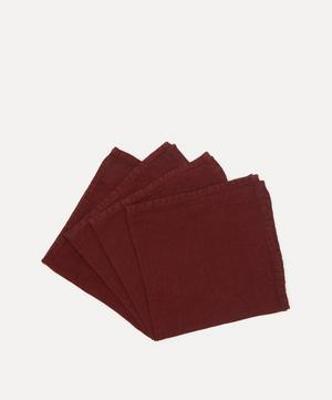 Lightweight Linen Napkins Set of 4