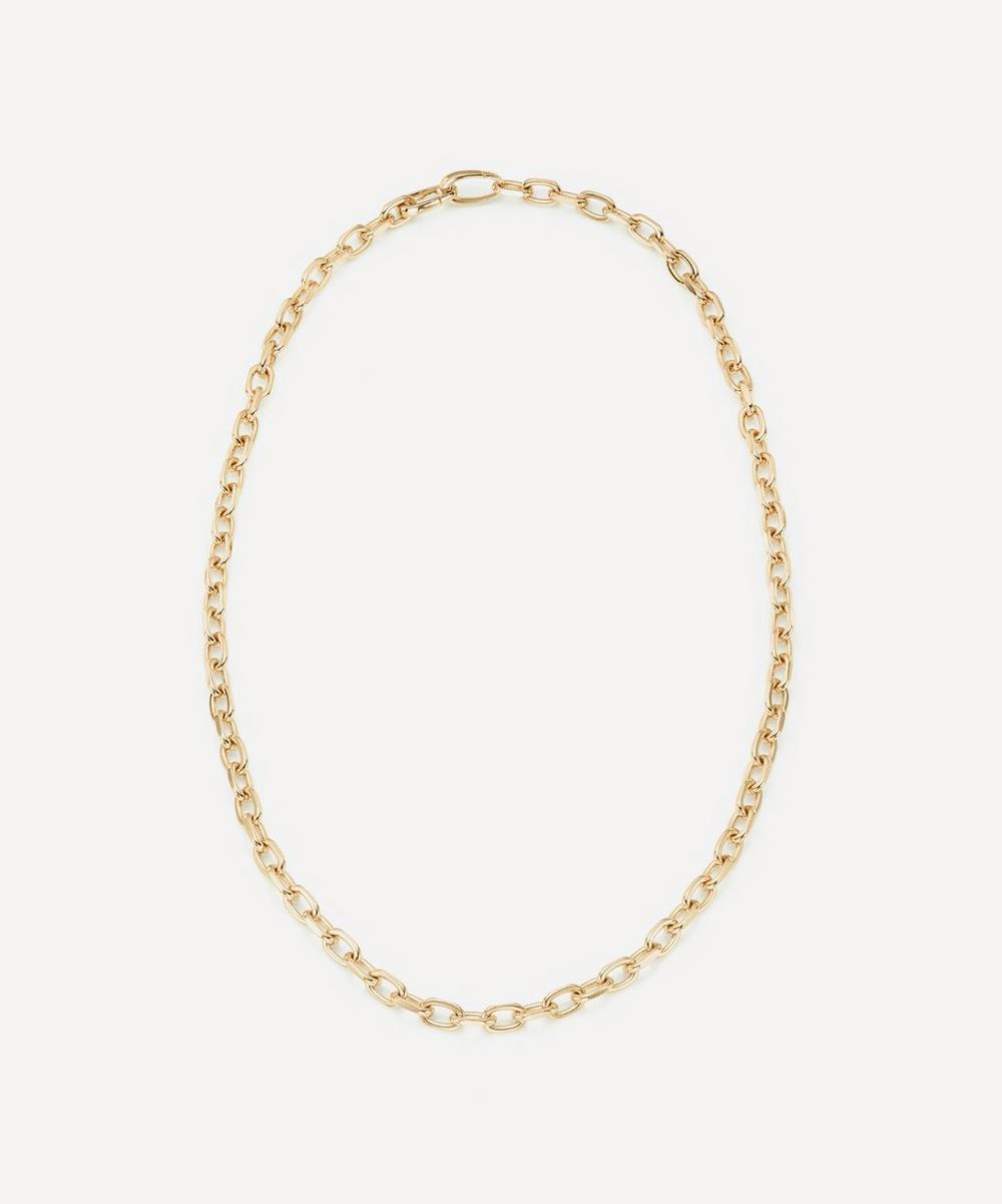Monica Vinader - Gold Plated Vermeil Silver Alta Capture Mini Link Necklace