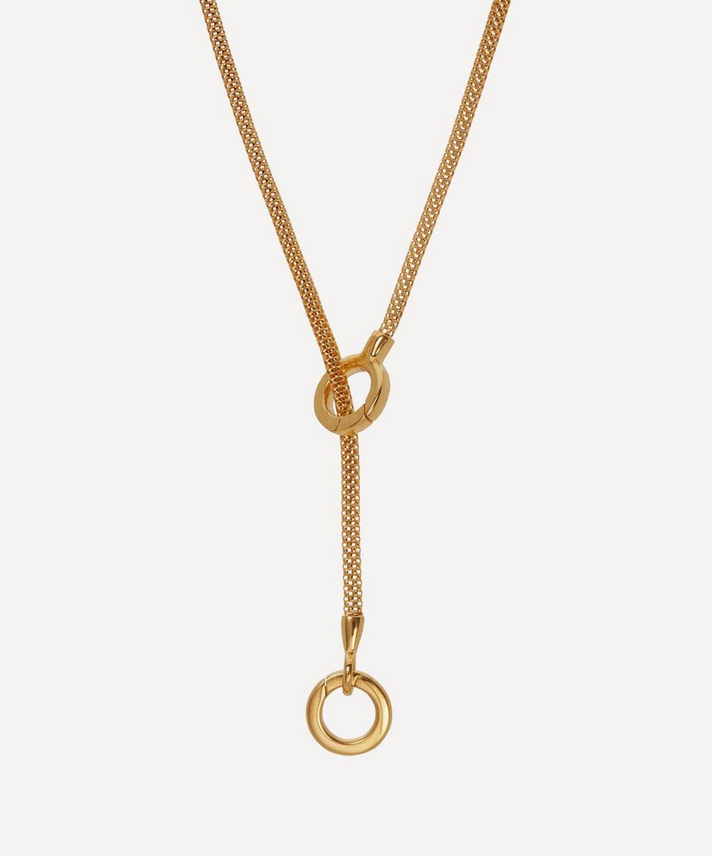 Monica Vinader - x Doina Gold Plated Vermeil Silver Lariat Necklace