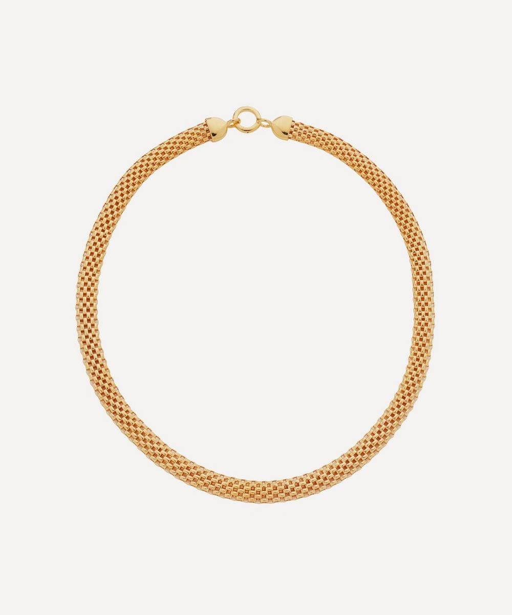 Monica Vinader - x Doina Gold Plated Vermeil Silver Wide Chain Necklace