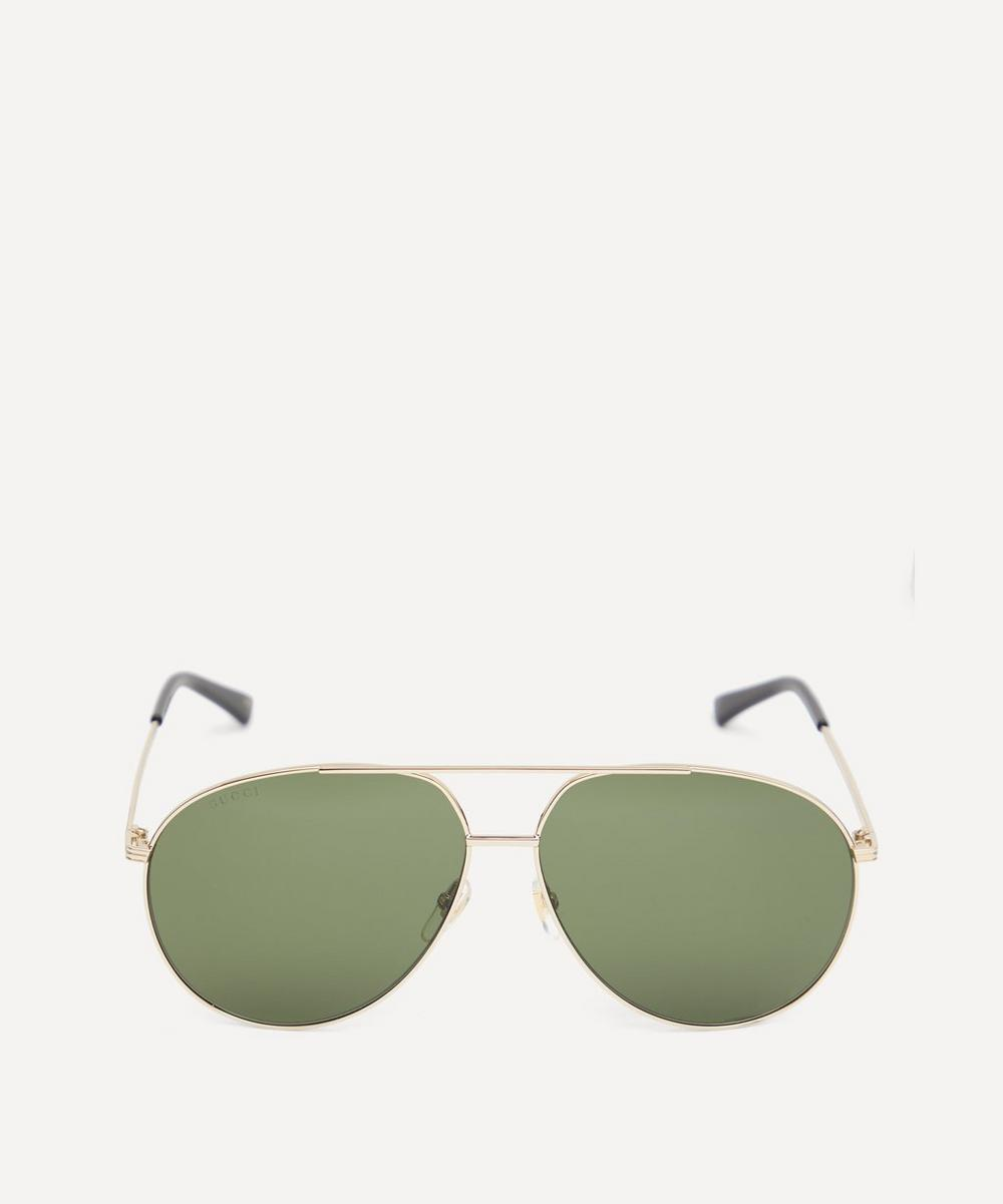 Gucci - Oversized Aviator Metal Sunglasses
