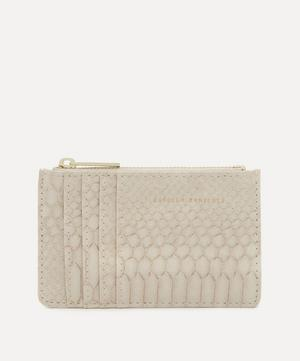 Snake Print Faux Leather Card Purse
