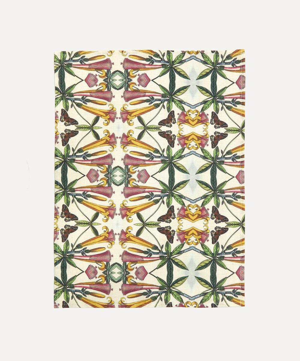 Avenida Home - Trumpet Flower Linen Tea Towel
