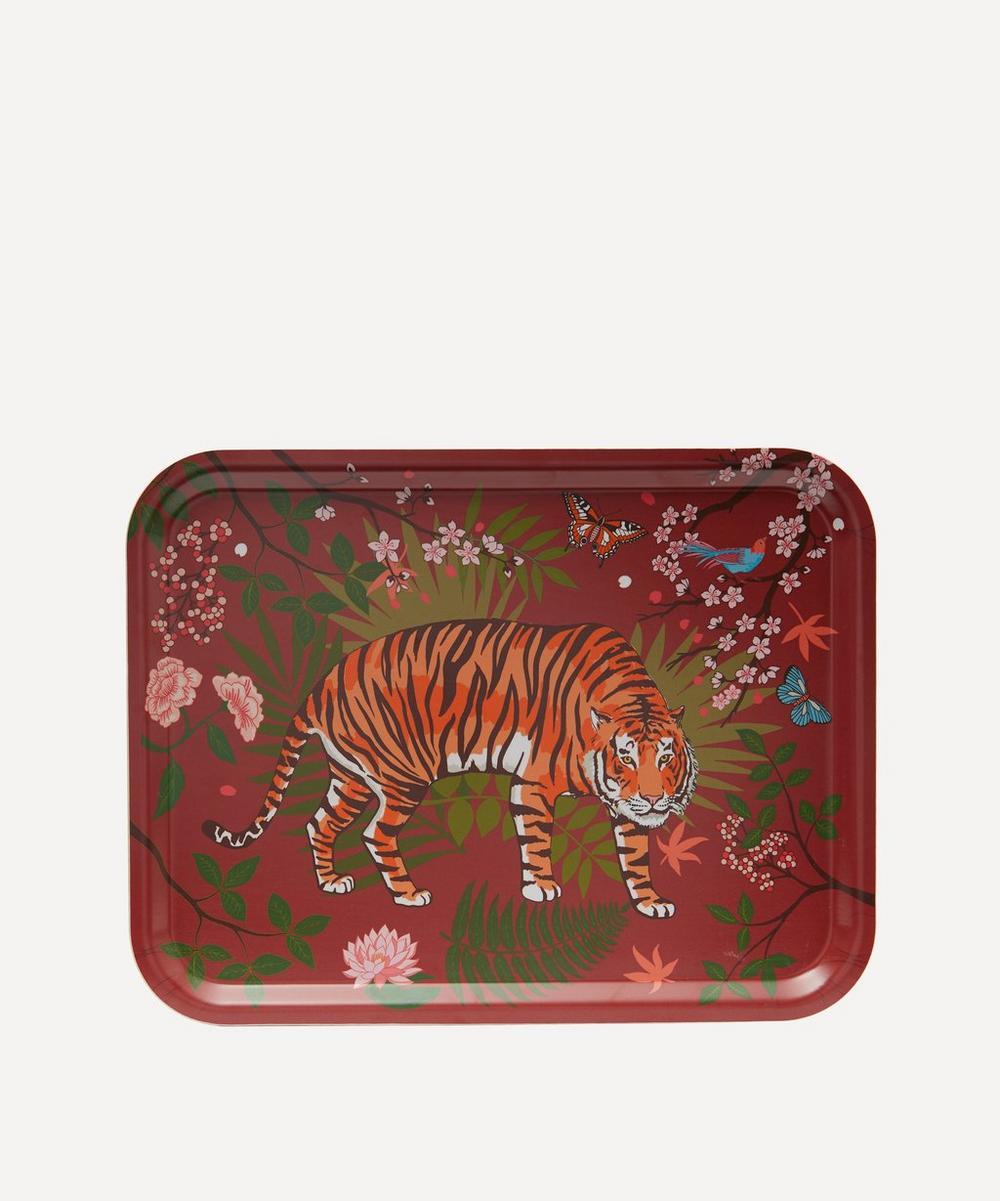 Avenida Home - Panthera Crimson Birch Wood Tray