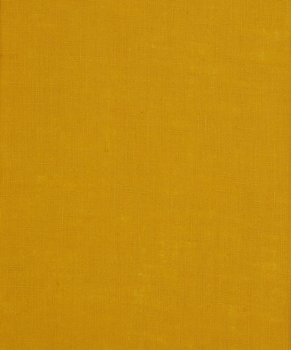 Liberty Fabrics - Capel Gold Plain Linen