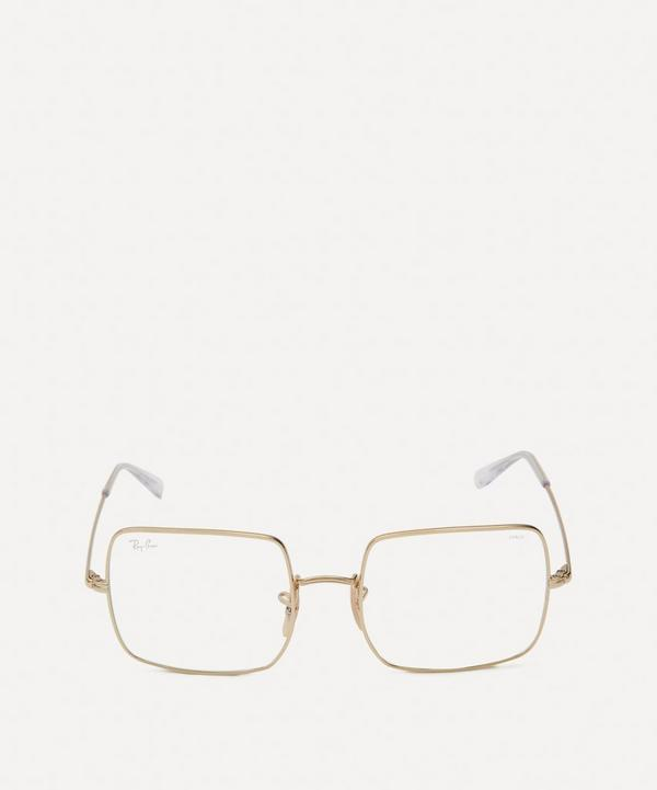 Ray-Ban - Square Clear Evolve Metal Everglasses