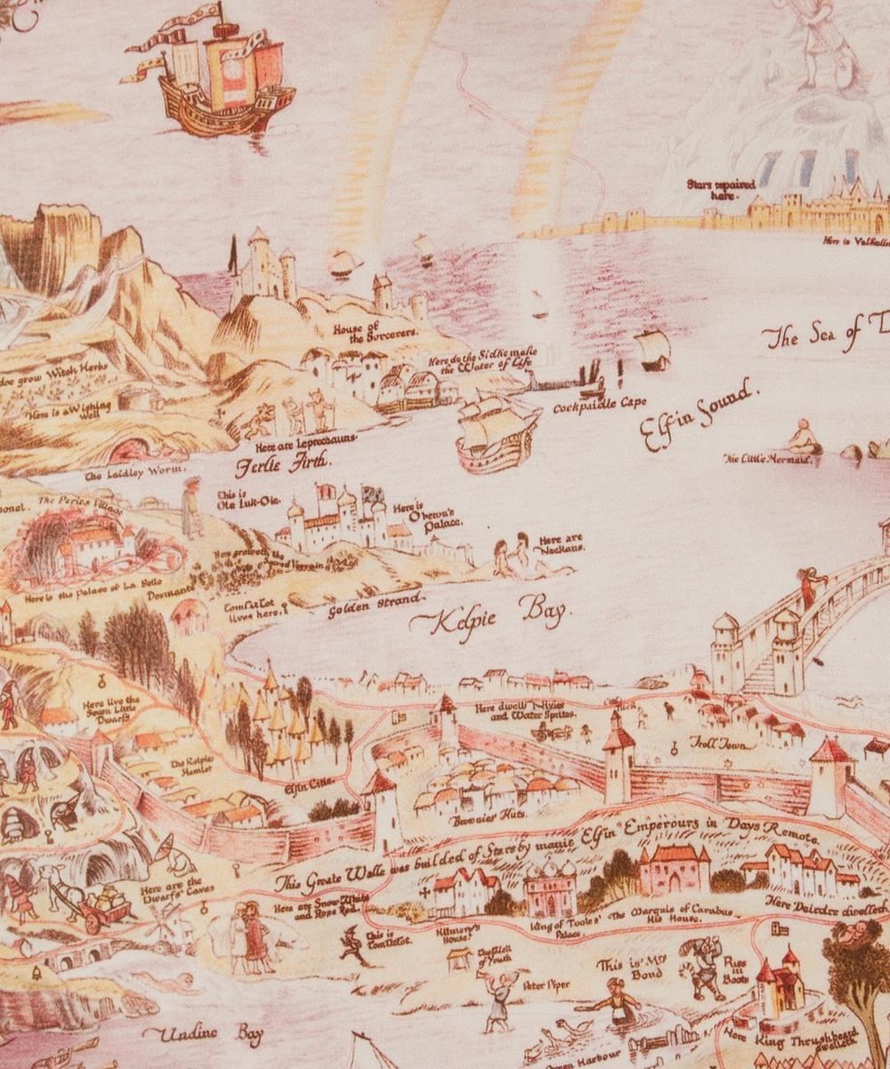 Liberty Fabrics - Story Map Silk Satin