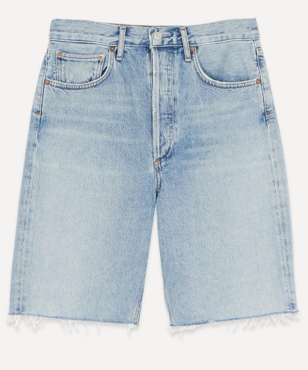 AGOLDE - 90s Mid-Rise Frayed Denim Shorts