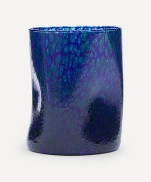 Blue Base Green Splatter Glass