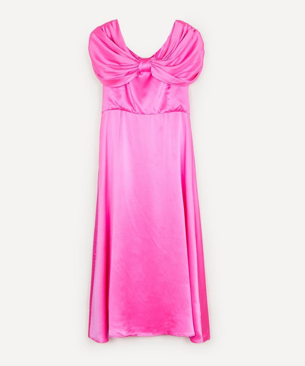 Shrimps - Oscar Silk Satin Midi-Dress