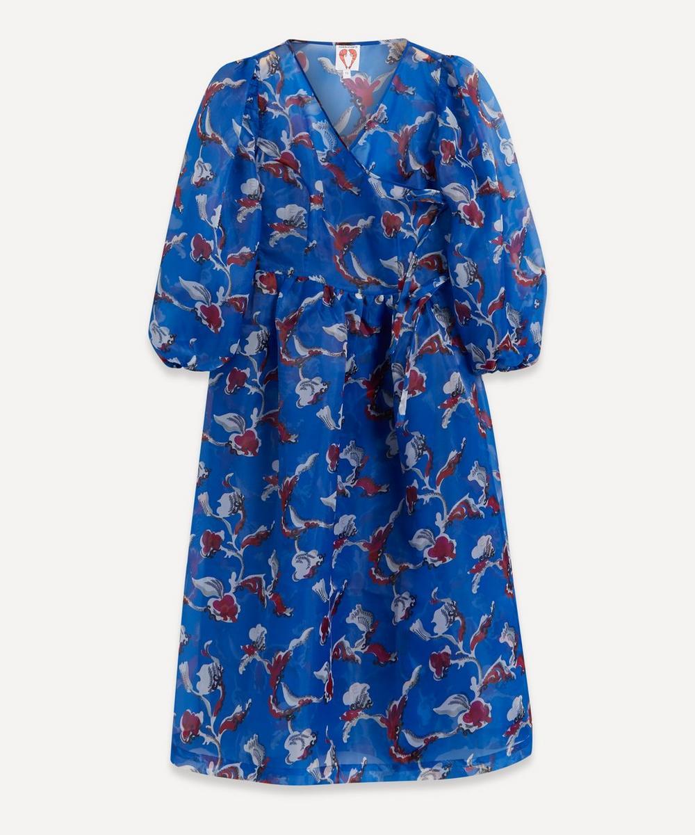 Shrimps - Titania Printed Organza Wrap-Dress