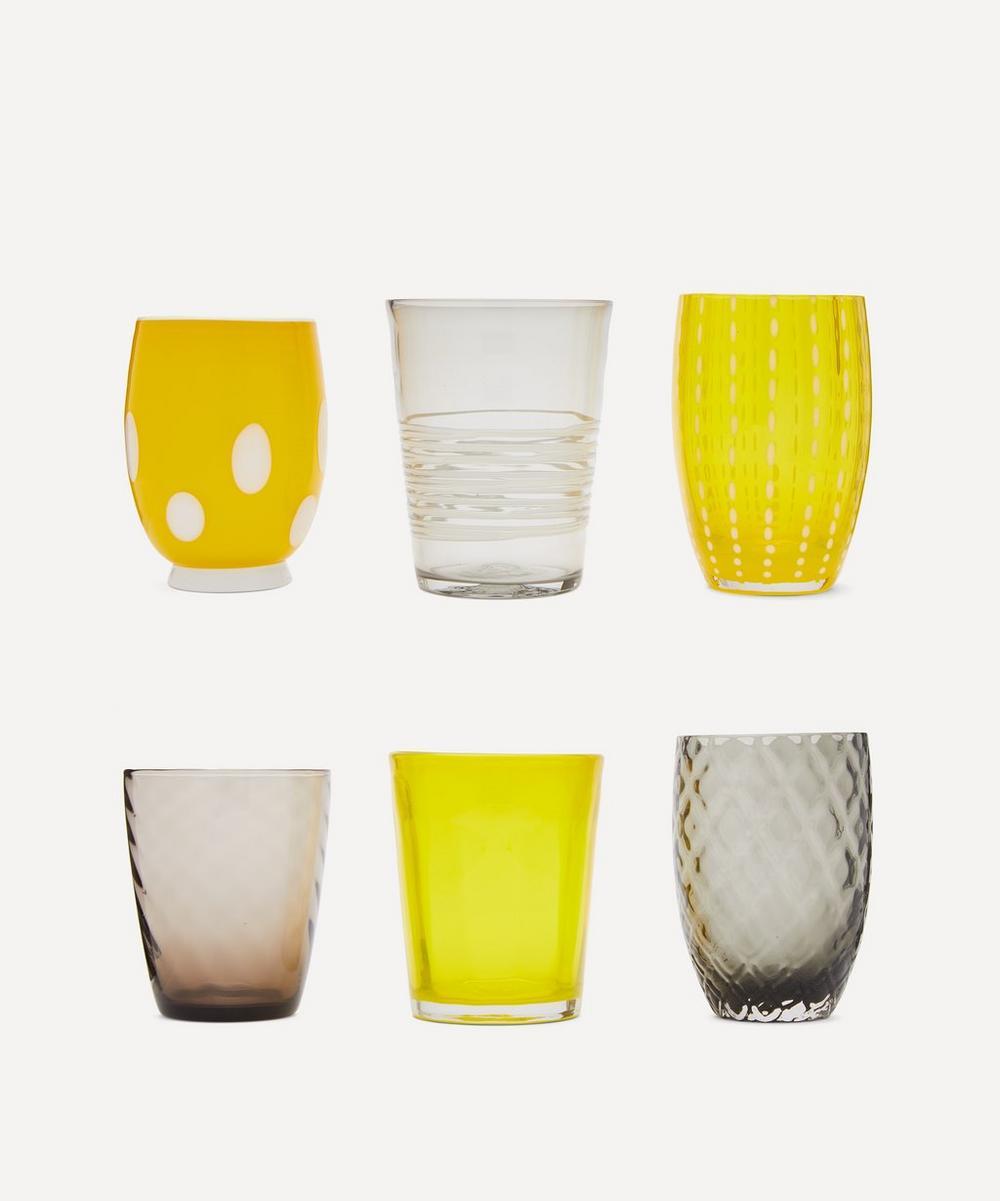 Zafferano - Melting Pot Assorted Glasses Set of 6
