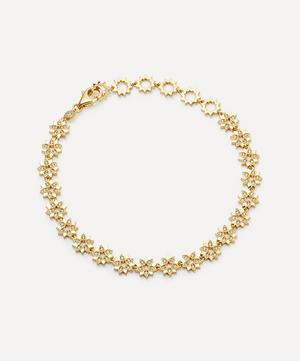 Gold Plated Vermeil Silver Biography Sun Chain Bracelet